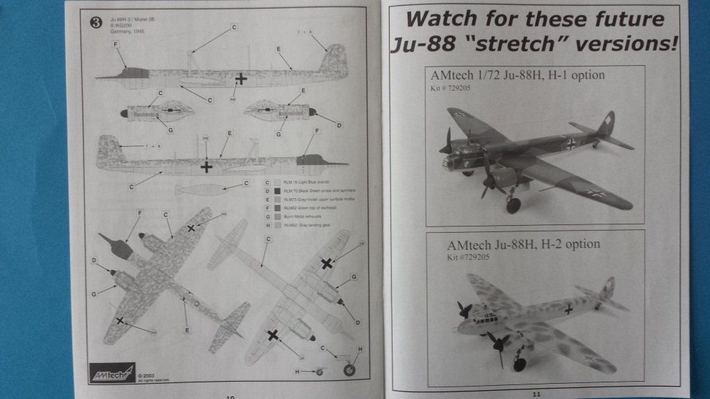 [AMtech] - Ju-88H-3 Mistel 4-4 Fuhrungdmachine + FW 190 F-8 Revell 20181125