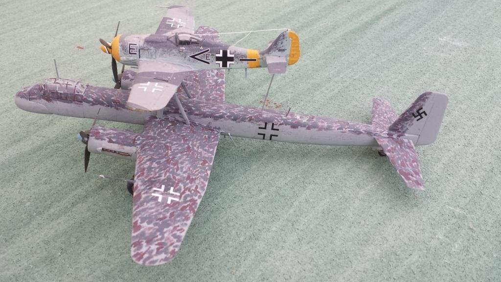 [AMtech] - Ju-88H-3 Mistel 4-4 Fuhrungdmachine + FW 190 F-8 Revell 20181216