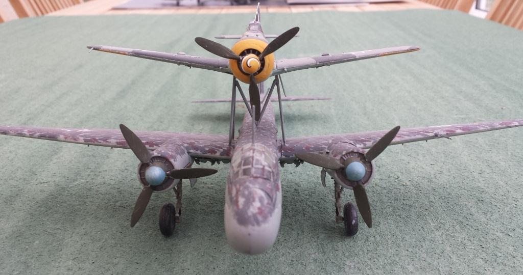 [AMtech] - Ju-88H-3 Mistel 4-4 Fuhrungdmachine + FW 190 F-8 Revell 20181219