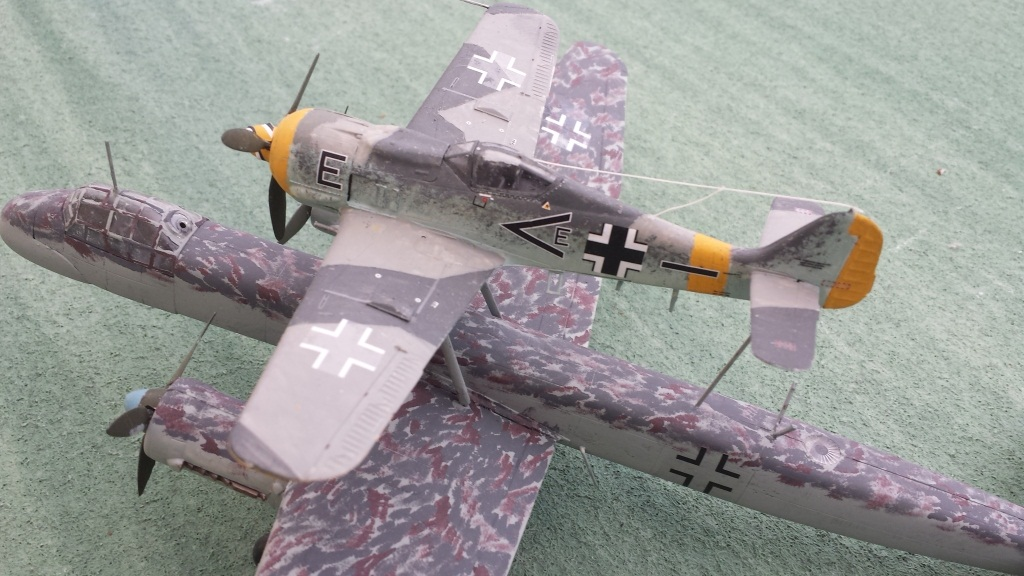 [AMtech] - Ju-88H-3 Mistel 4-4 Fuhrungdmachine + FW 190 F-8 Revell 20181220