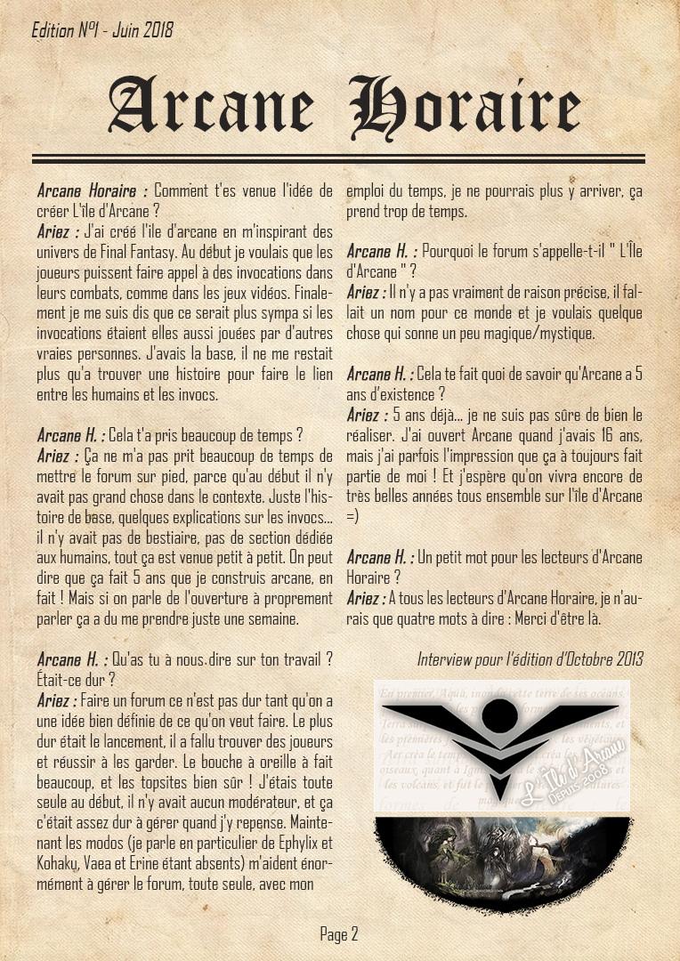 [Edition N°1] Arcane, 10 ans d'existence Arcane14