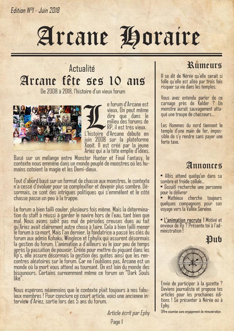 [Edition N°1] Arcane, 10 ans d'existence Arcane20