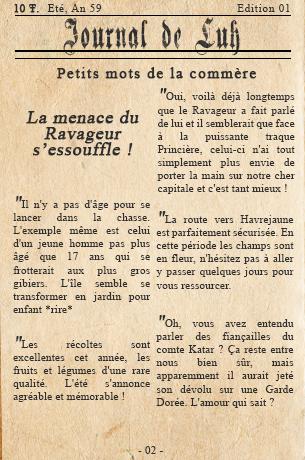 Edition n°01 - Une révolte à Rorn ? Journa14
