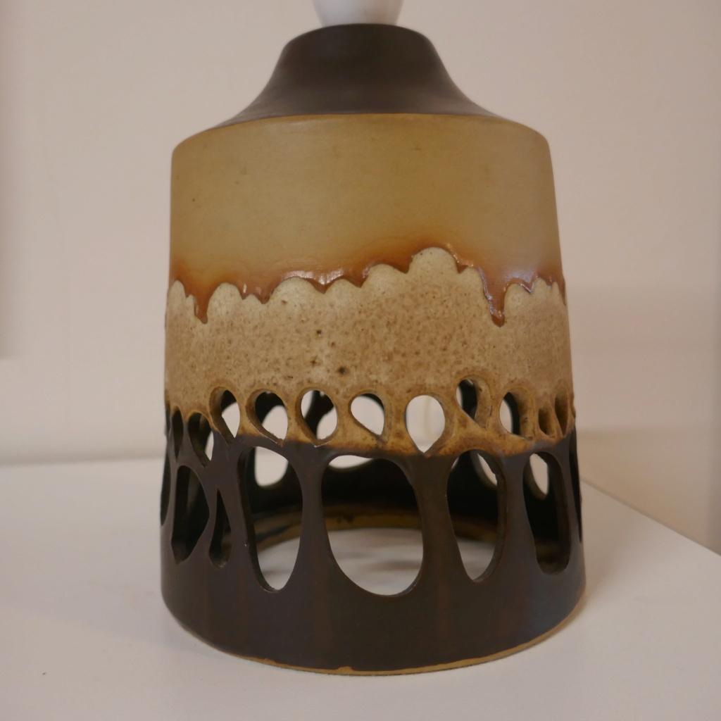 ID please - studio pottery lamp base - pierced trees ? P1130010