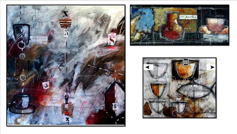 À la manière de Gérard Dansereau (peinture et texture) Danser15