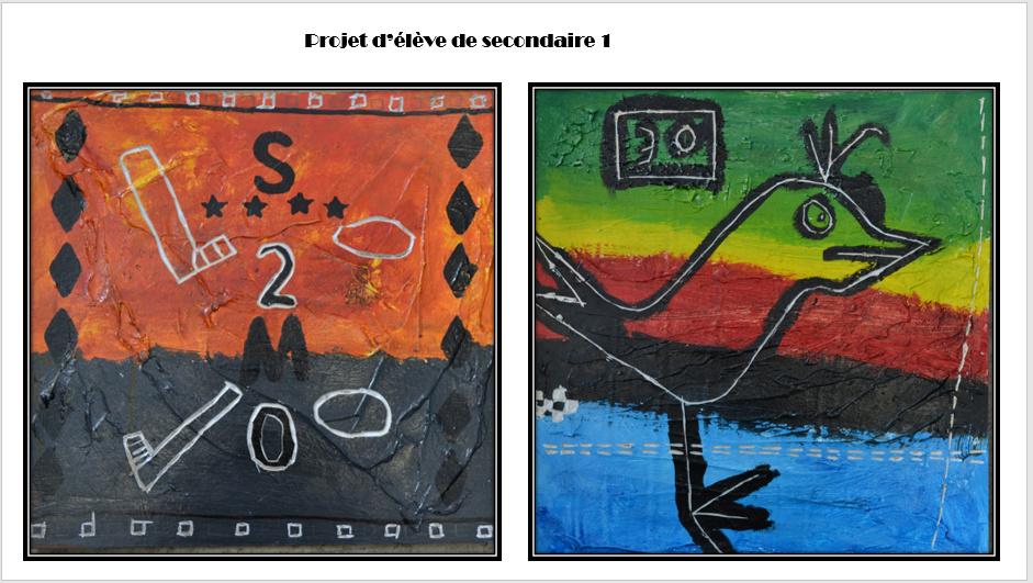 À la manière de Gérard Dansereau (peinture et texture) Danser17