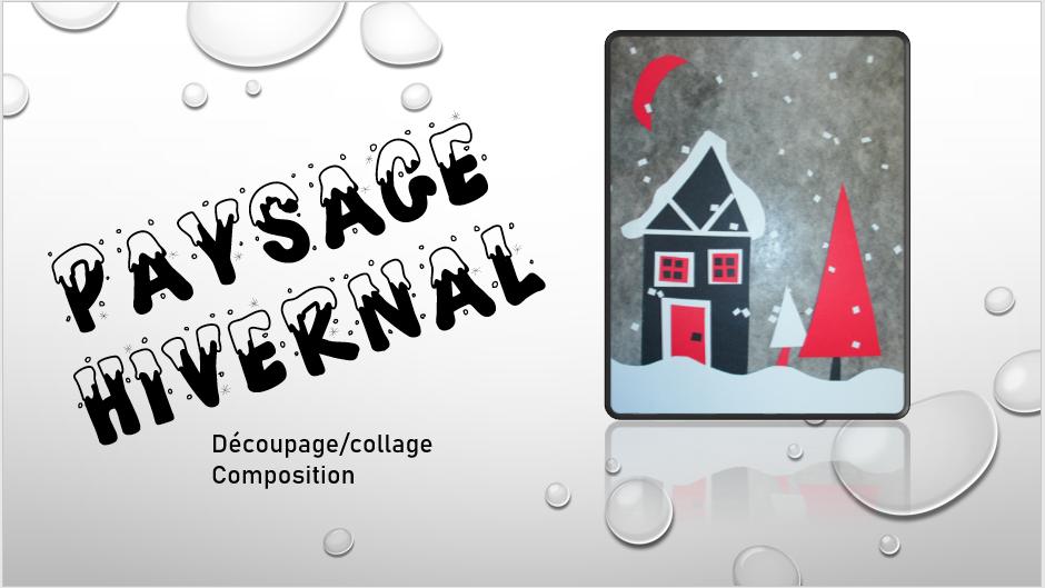Paysage Hivernal (découpage collage) Doc110