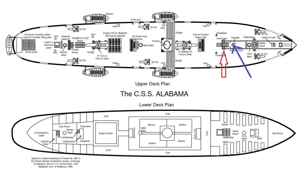 costruzione di goletta, liberamente ispirata a piroscafo cannoniera del XIX secolo - Pagina 17 Alabam11