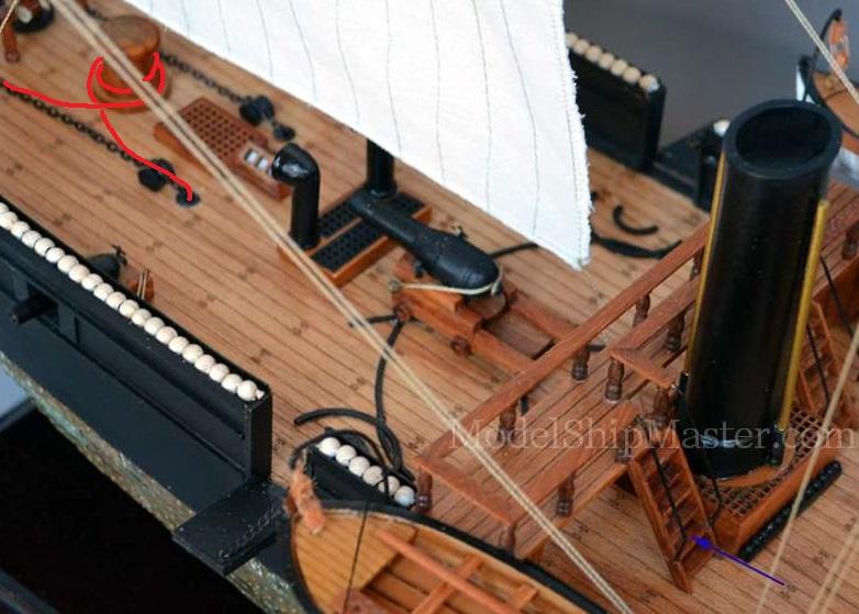 costruzione di goletta, liberamente ispirata a piroscafo cannoniera del XIX secolo - Pagina 17 Su_arg10