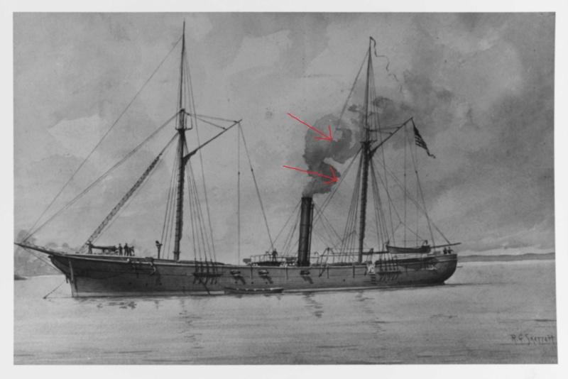 vele - costruzione di goletta, liberamente ispirata a piroscafo cannoniera del XIX secolo - Pagina 16 Uss_ca11