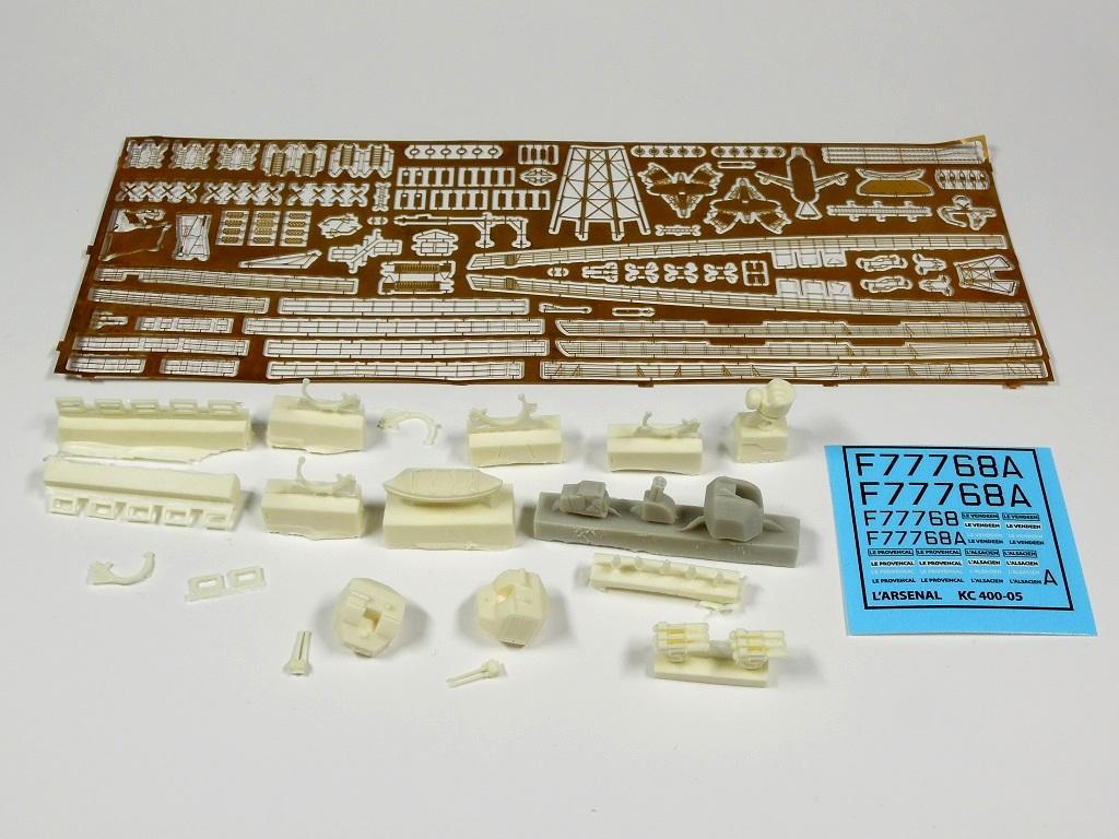 L'ALSACIEN Escorteur-rapide - 1/400 Heller + kit l'Arsenal A119