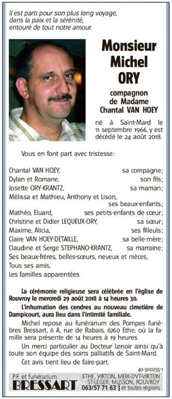 Décès de Michel Ory  Nzocro10