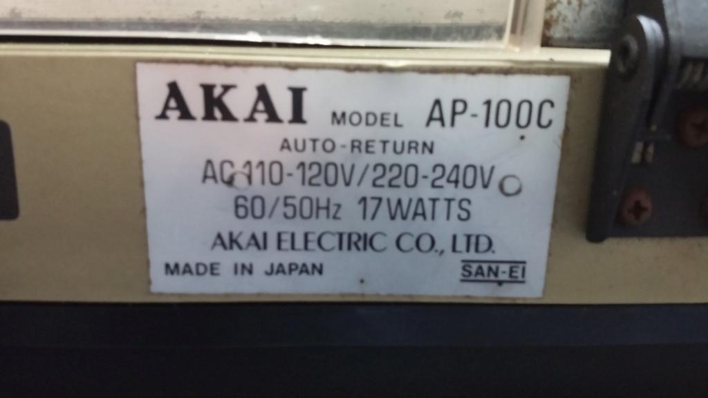 Dual 505 & Akai AP-100C Turntable 20181117
