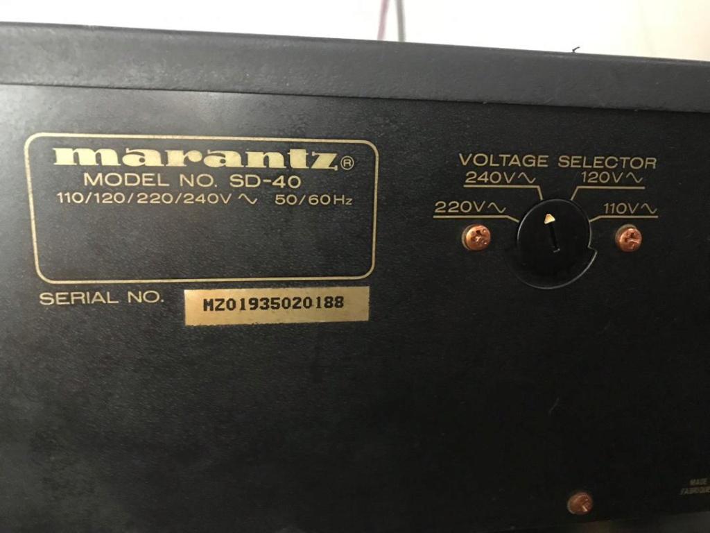 Marantz Stereo Cassette Deck SD-40 Whatsa19