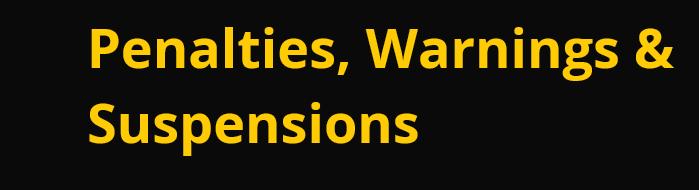 Penalties, Warnings &  Suspensions Snaps104