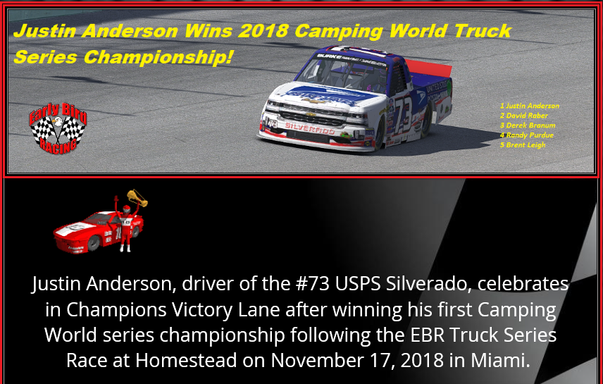 2018 Camping World Champion Snapsh35
