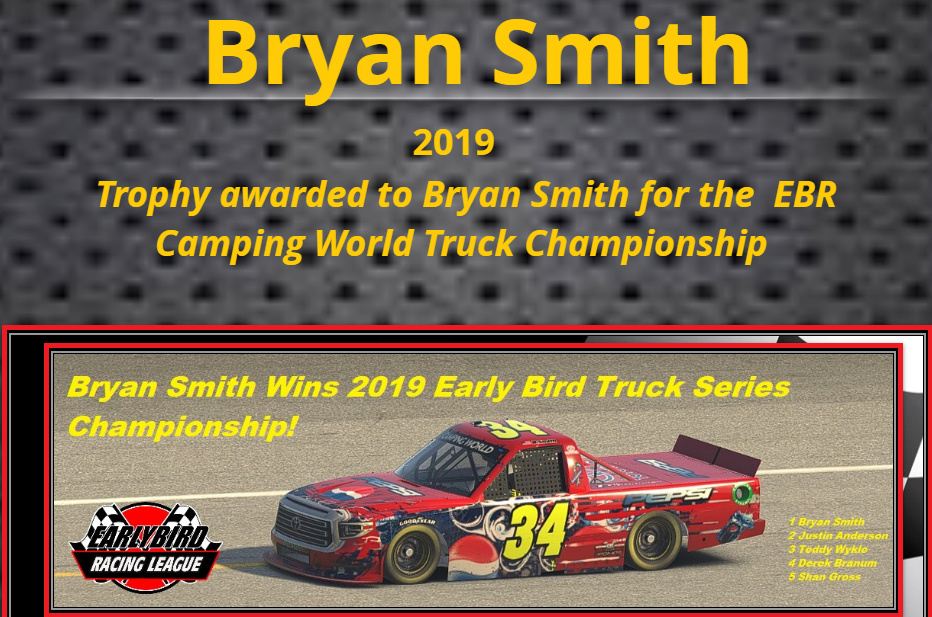 2019 Camping World Champion Champion Snapsh52