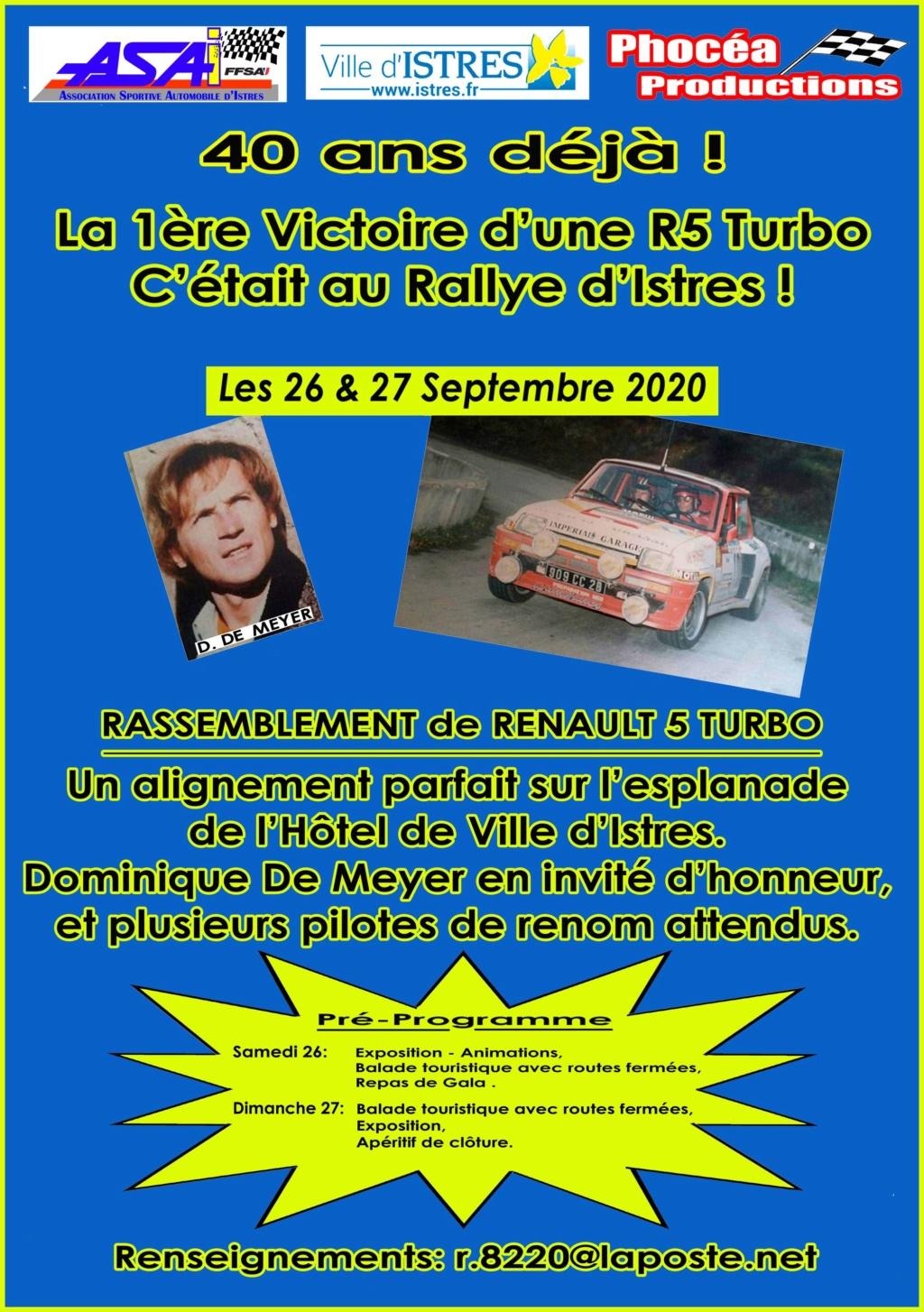 Rassemblement de Renault 5 Turbo pour sa 1ére victoire Affich10