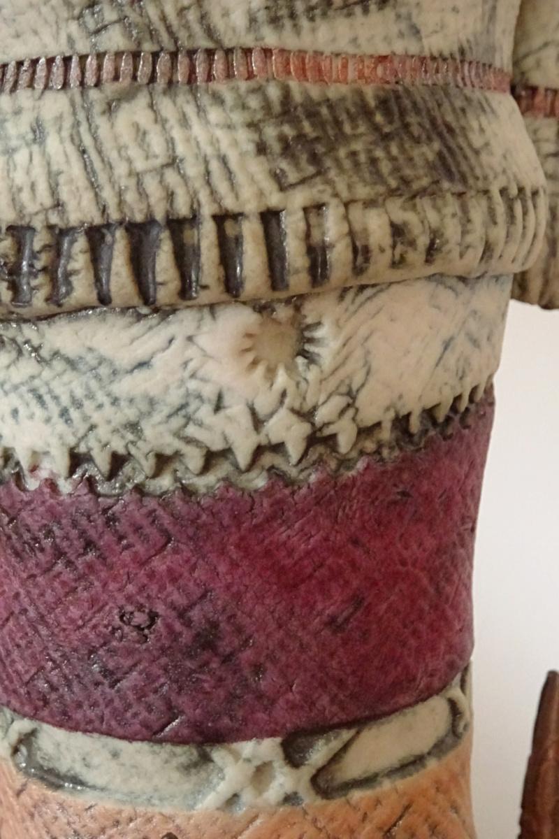 Fantasy ceramic on copper legs, Pam Schomberg of Colchester. Dsc02012