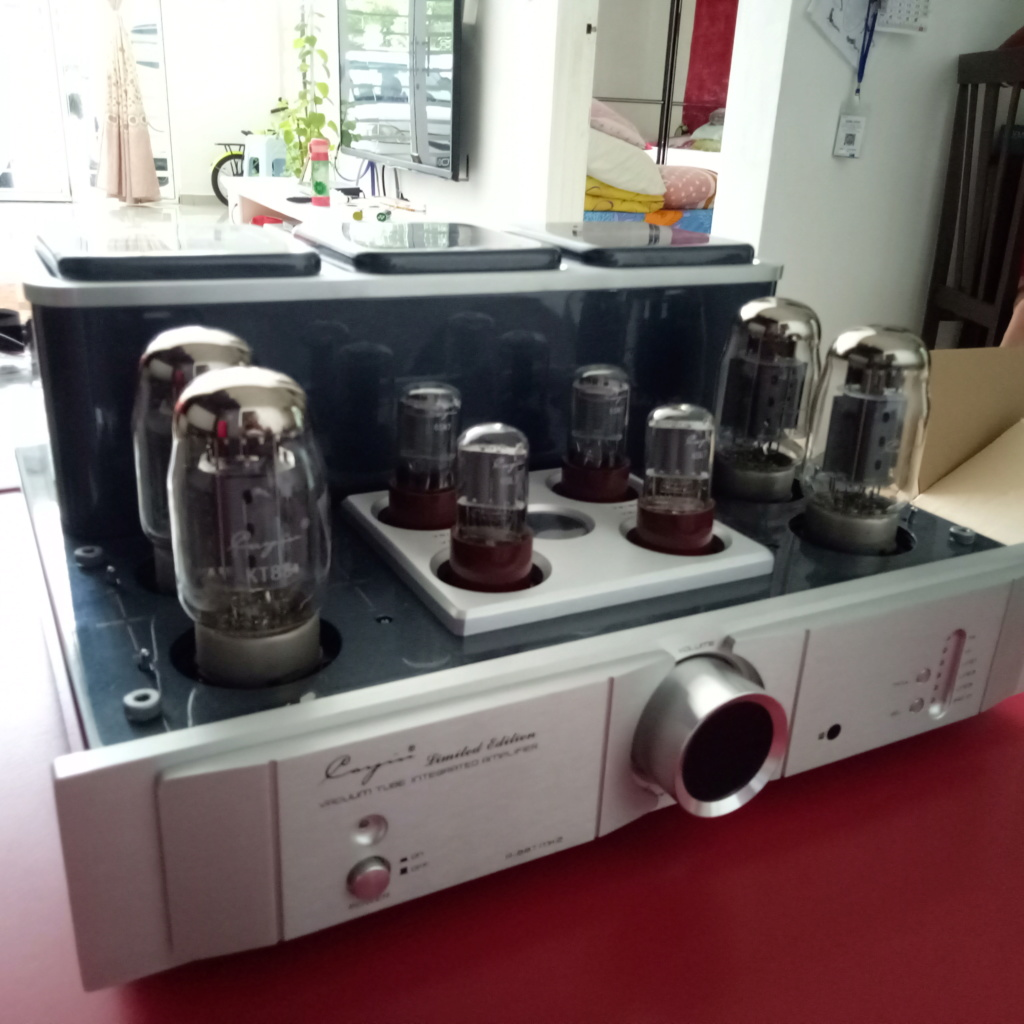 Cayin A-88T MK2 Tube Integrated Amplifier-99% New & Complete Set Img20113