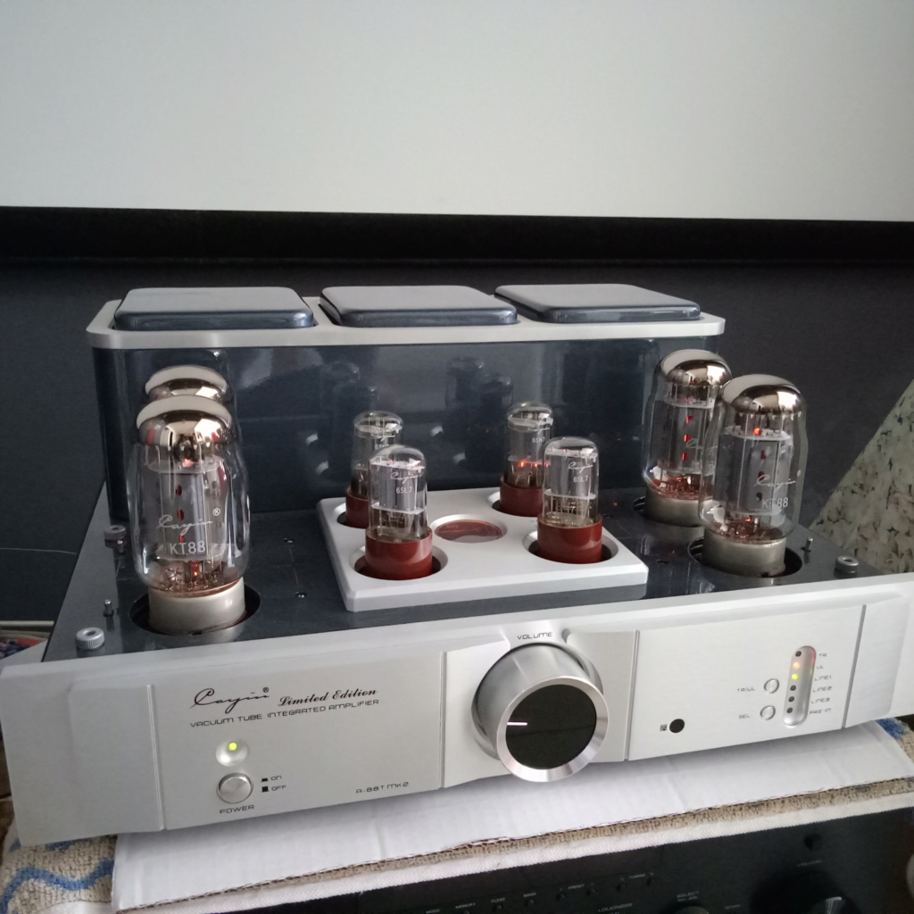 Cayin A-88T MK2 Tube Integrated Amplifier-99% New & Complete Set Img20116