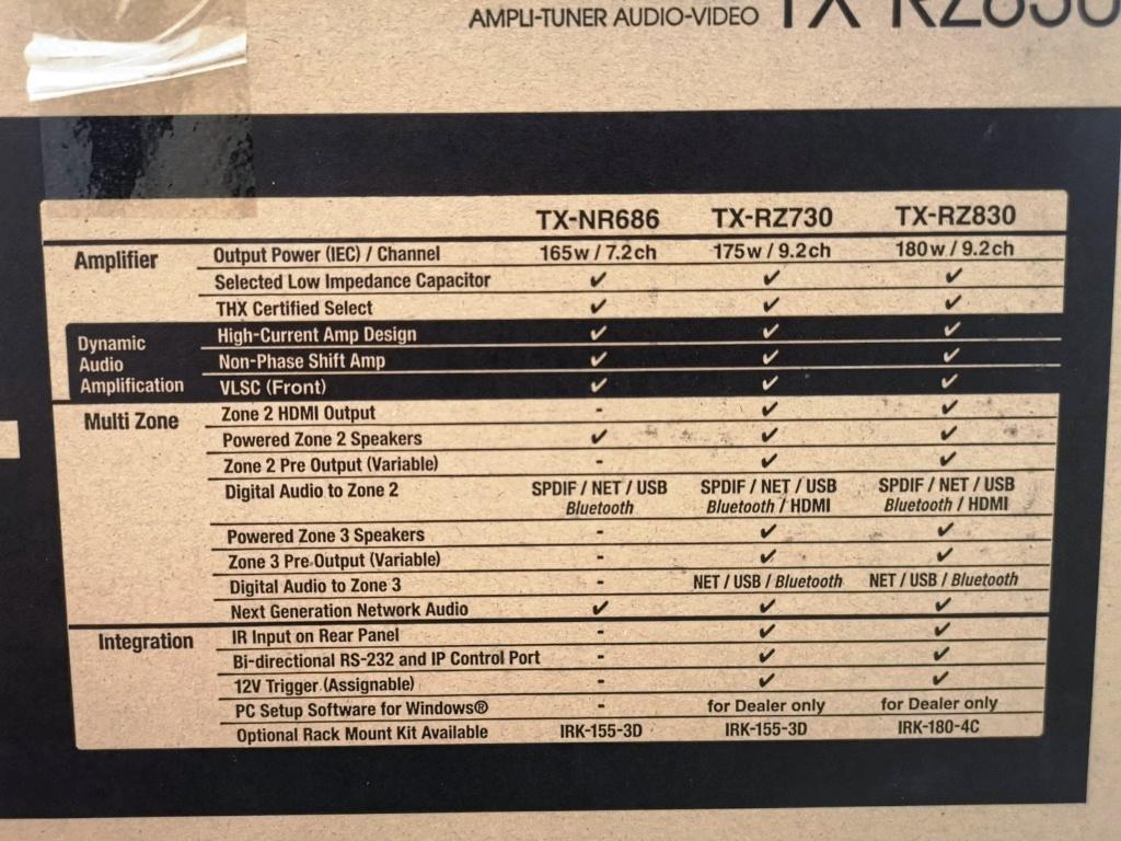 ONKYO TX-RZ830 High End AV Amp (100% Brand New) Img_2173