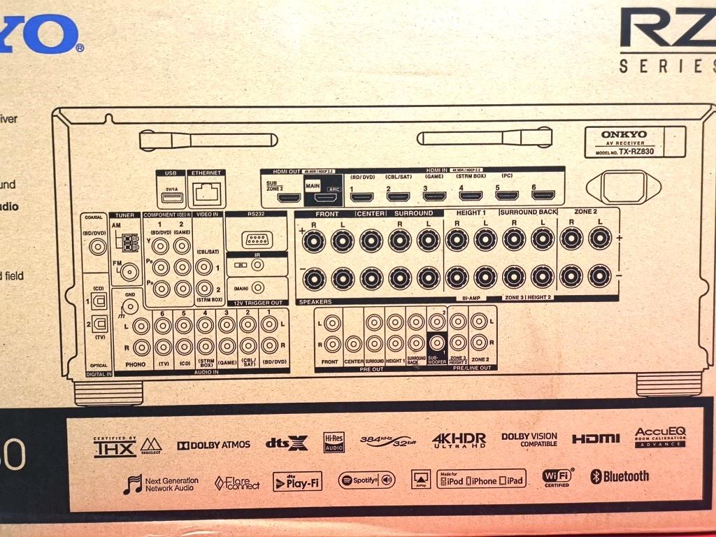 ONKYO TX-RZ830 High End AV Amp (100% Brand New) Img_2175