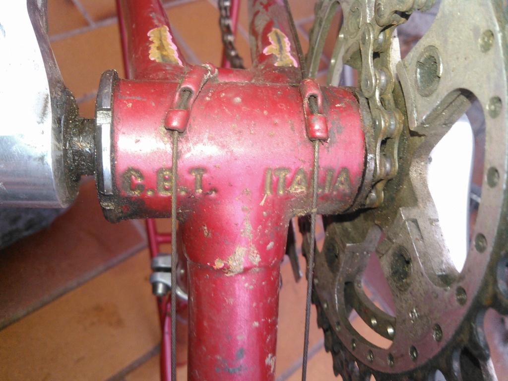 Vélo course cadre double tube CBT Italia Kimg0964