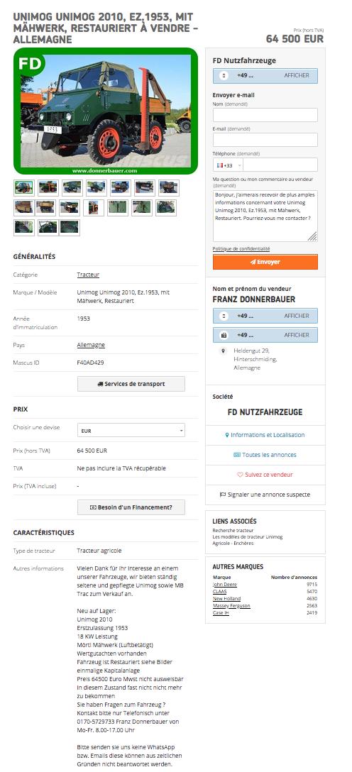 Unimog 2010 de 1953 à vendre pour collectionneur richissime ! Captur23