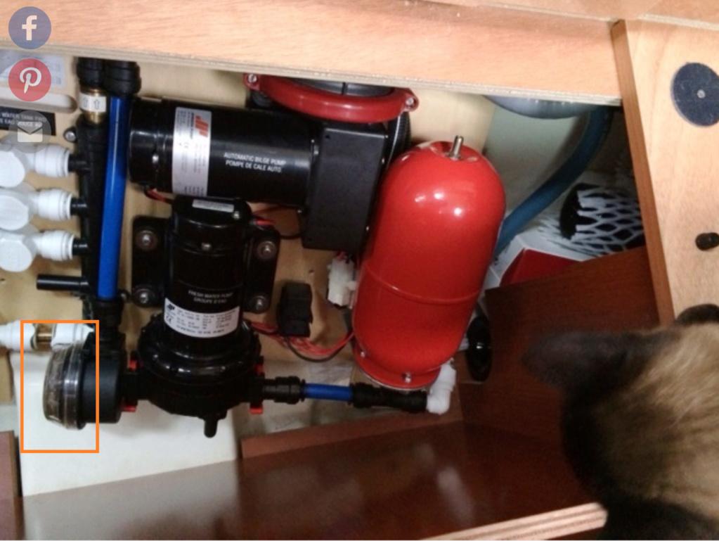 Préfiltre circuit eau douce qui se brise Oceani10