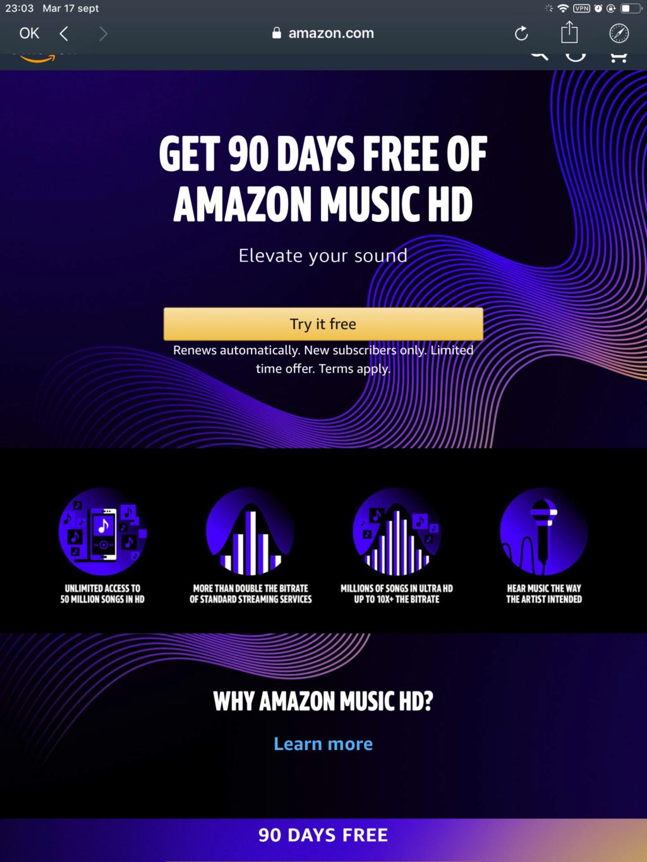 Amazon Music ofrecerá modalidad CD (44/16) y HD (192/24) 353e7e10