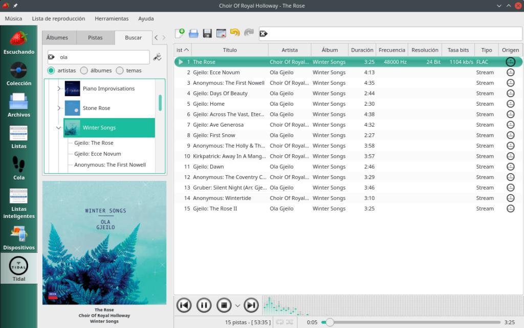 Escuchar Tidal / Master (MQA) en Linux sí es posible Choir_10