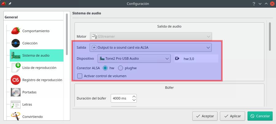 Escuchar Tidal / Master (MQA) en Linux sí es posible Config12