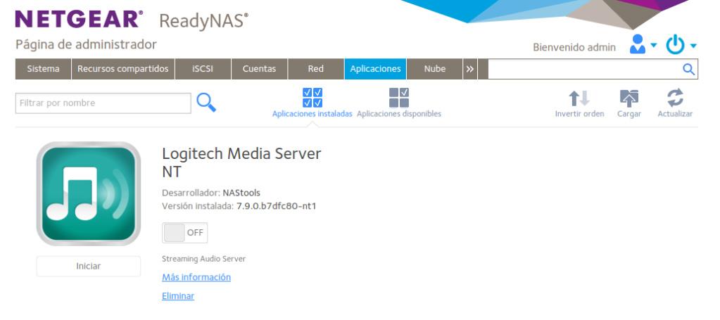 Poniendo al día un tinglado Logitech Media Server Selecc38