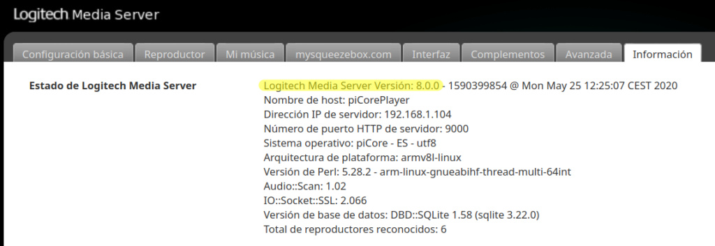 Poniendo al día un tinglado Logitech Media Server Selecc41