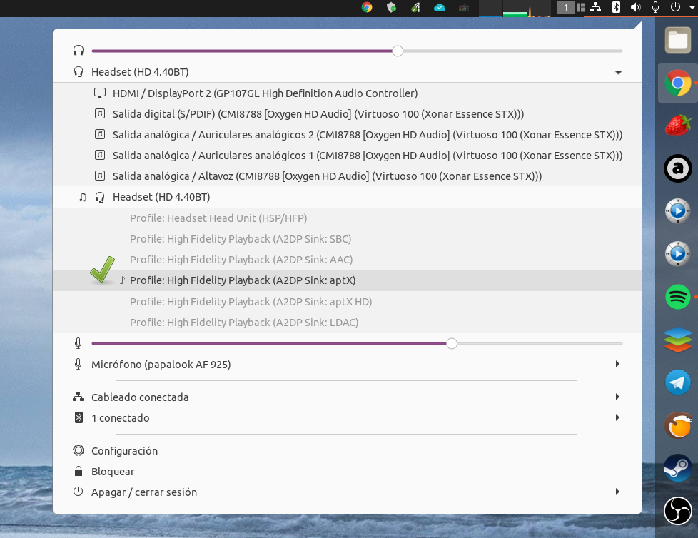 LDAC, aptX / HD y SBC (mejorado) en Linux Select11