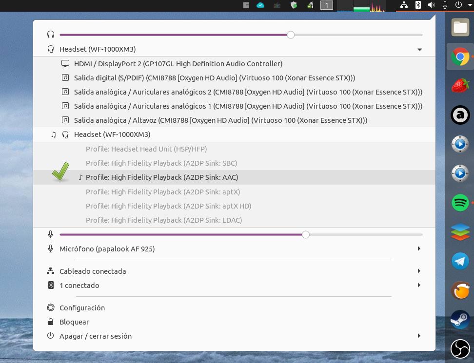 LDAC, aptX / HD y SBC (mejorado) en Linux Select12
