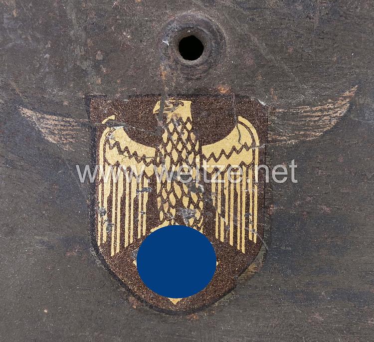 Casque All avec aigle bizarre Heer ou KM en vente 28566210