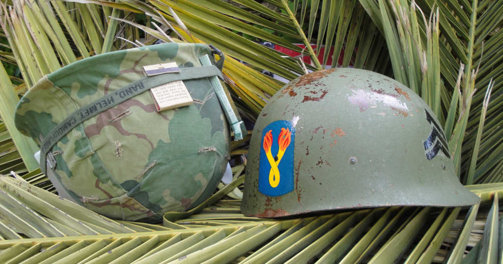 Casque US Vietnam de la 196th infantry brigade 2912