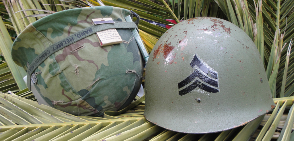 Casque US Vietnam de la 196th infantry brigade 3012