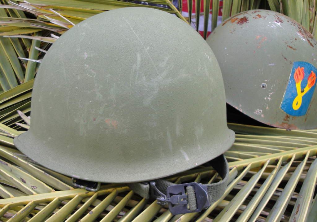 Casque US Vietnam de la 196th infantry brigade 3810