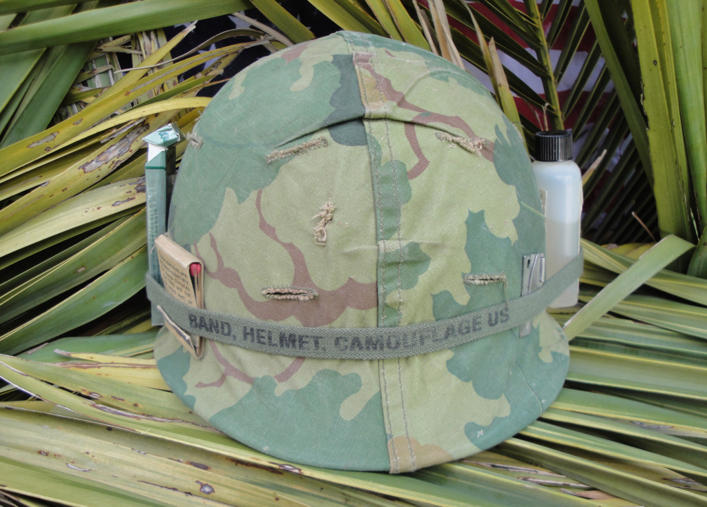 Casque US Vietnam de la 196th infantry brigade 529
