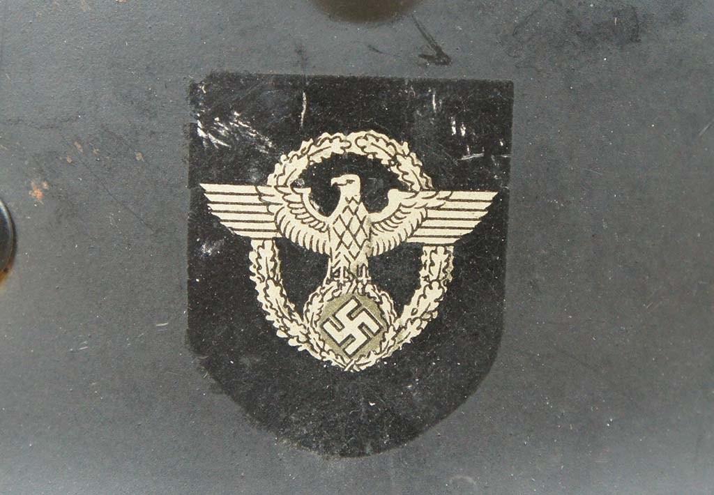 Casque allemand w2 police Blacke10