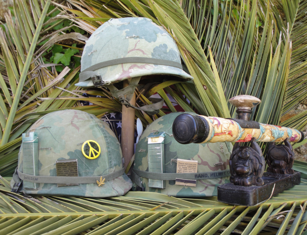 Casque US Vietnam de la 196th infantry brigade Dsc07011