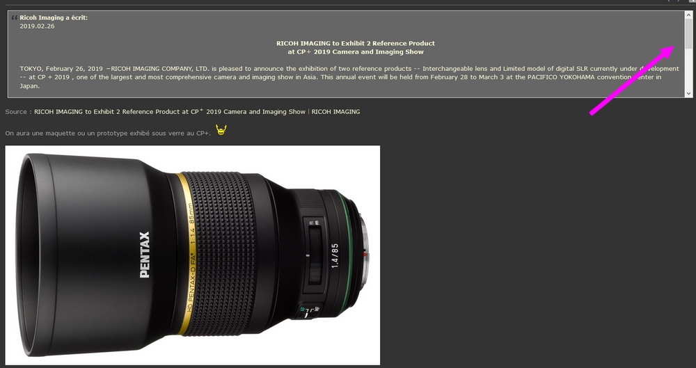 HD Pentax-D FA★ 85 mm f/1,4  Lectur10
