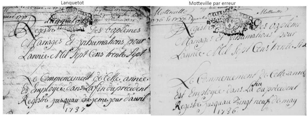 Mariage Delamare x Lefebvre en 1736 Erreur10