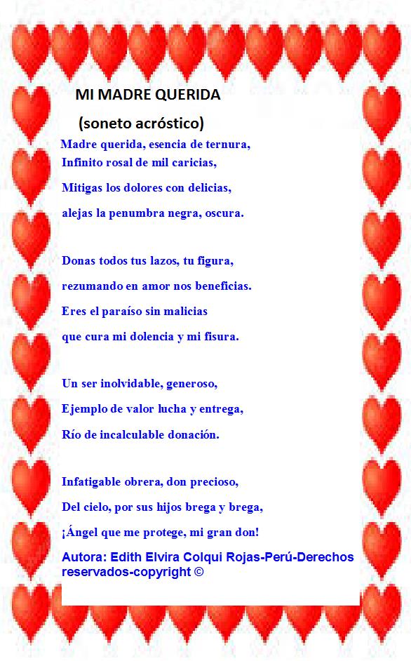 MI MADRE QUERIDA (Soneto acróstico) Madre_10
