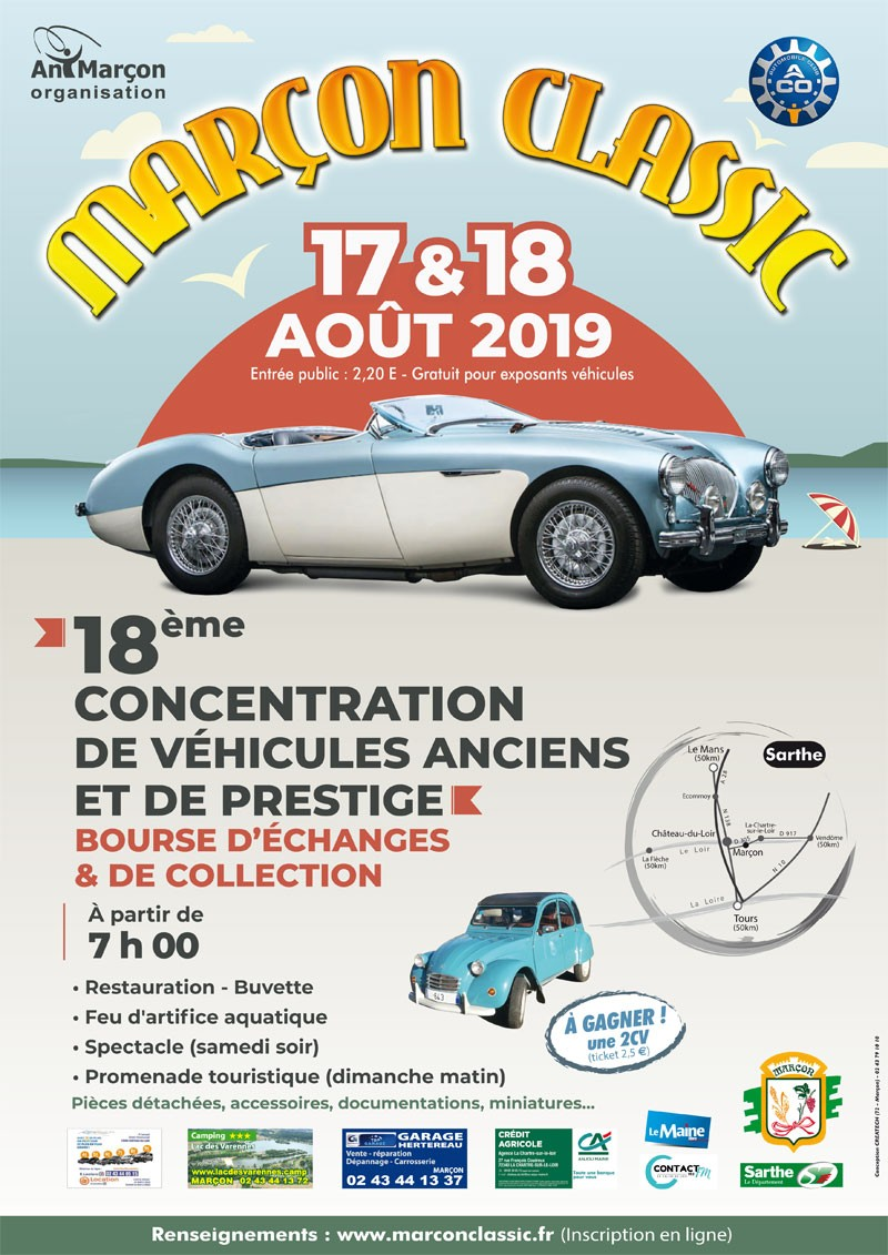 Marçon Classic véhicules anciens (72) Affich10