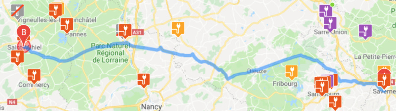 Trajet Saverne - Saint-Germain-en-Laye (455 km) Captur15