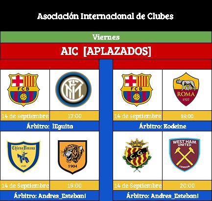 [AICv19] Horario Partidos Aplazados / SF Copa AIC & Copa Community / Liga J7(1D/2D) & Liga J8 (3D) Aic_vi10